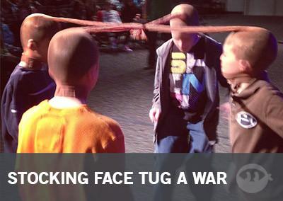 Stocking Face Tug A War