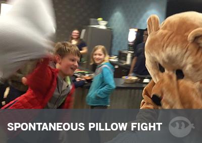 Spontaneous Pillow Fight