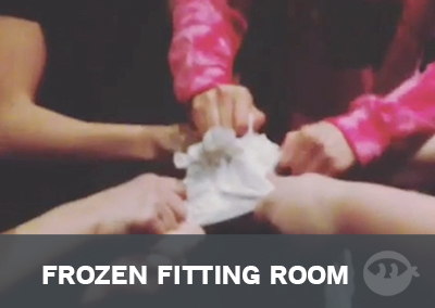 The frozen fitting room game is perfect for summertime!